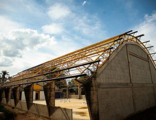 Prefeitura de Ouro Preto-MG conclui 70% das obras do Ginásio Poliesportivo de Glaura
