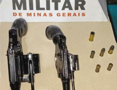 Polícia Militar apreende duas armas de fogo em Ouro Preto-MG